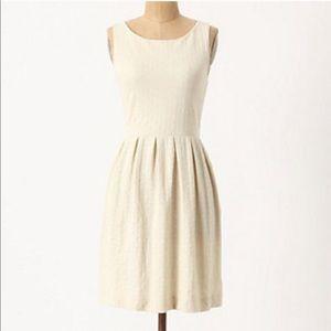 "Anthro ""Deletta"" Cream Torchon Embossed Dress"